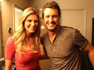Go country ny country news september 27 2011 andrews access luke bryan r and espns erin andrews meet backstage on the set of access hollywood live monday 926 m4hsunfo